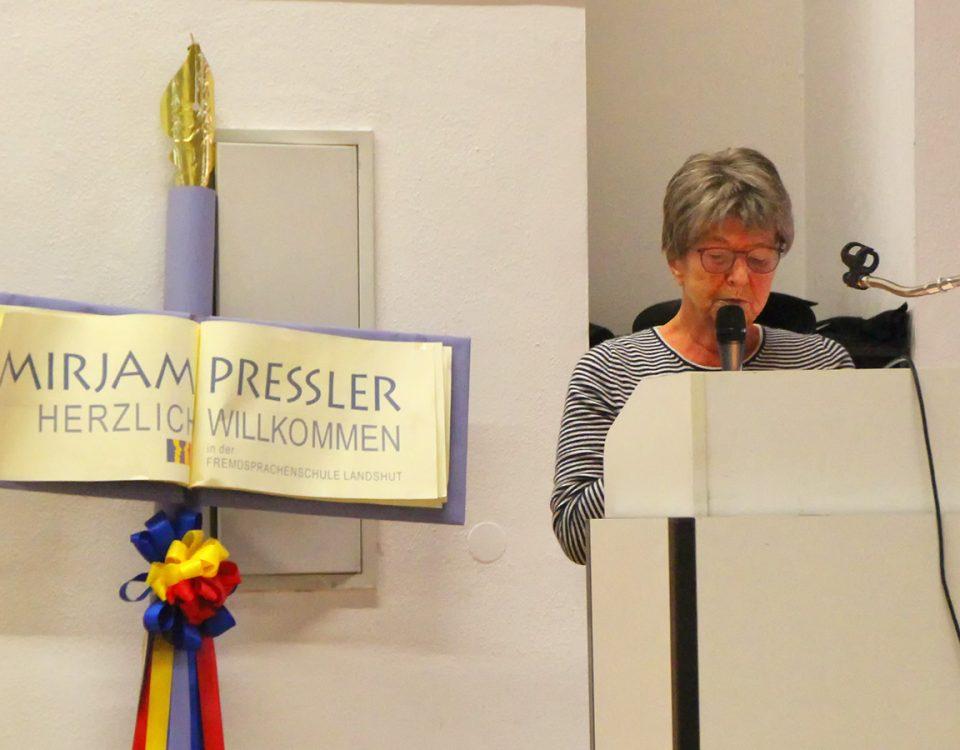 Die Trägerin des Kulturpreises 2017 der Stadt Landshut, Mirjam Pressler